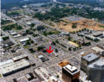 Aerial view of new Main Library location
